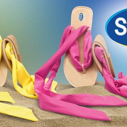 Dámské žabky Scholl s barevným šněrováním