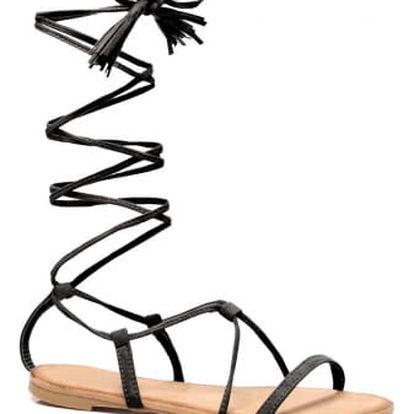 Dámské černé sandály Tiara 6009