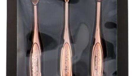 Makeup Revolution London Brushes Precision Eye Brush dárková kazeta pro ženy kosmetický štětec na oční stíny 1 ks kulatý + kosmetický štětec na oční stíny 1 ks oválný + kosmetický štětec na oční linky 1 ks