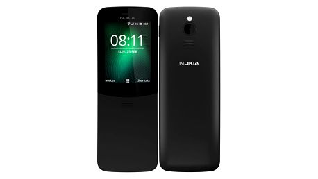 Mobilní telefon Nokia 8110 4G Dual SIM černý + dárek (16ARGB01A15)