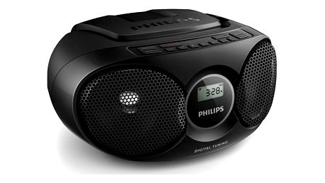 Radiopřijímač s CD Philips AZ215B černý