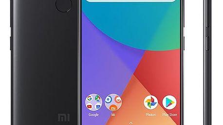 Mobilní telefon Xiaomi Mi A1 64 GB Dual SIM CZ LTE černý + dárek (PH3619)