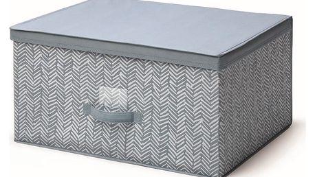 Modrý úložný box s víkem Cosatto Tweed, šířka60cm