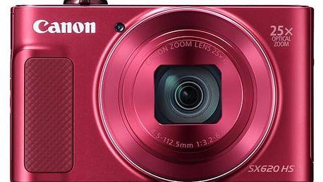 Digitální fotoaparát Canon PowerShot SX620 HS červený + dárek (1073C002)