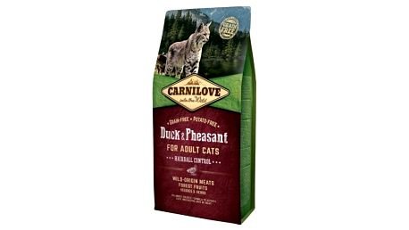 Brit Carnilove Cat Duck & Pheasant Adult Hairball Contr 6 kg