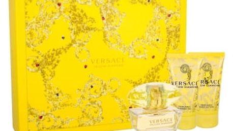 Versace Yellow Diamond dárková kazeta pro ženy toaletní voda 50 ml + tělové mléko 50 ml + sprchový gel 50 ml