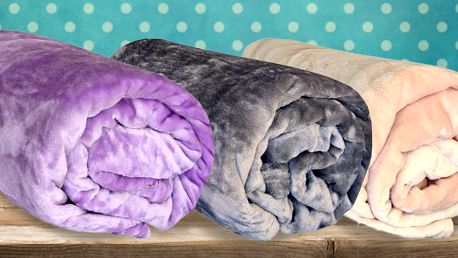 Barevné deky z mikroflanelu ve 14 barvách