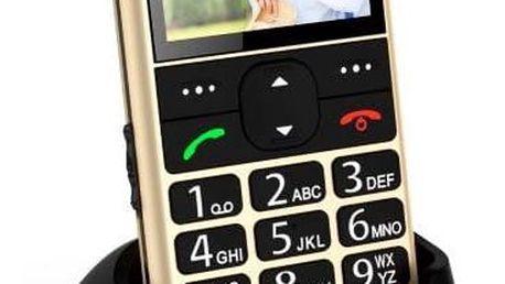 Mobilní telefon CPA Halo 11 zlatý + dárek (TELMY1011GO)