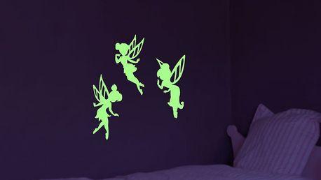 Samolepka svítící ve tmě Ambiance Fairies