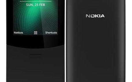 Mobilní telefon Nokia 8110 4G Dual SIM (16ARGB01A15) černý SIM karta T-Mobile SIM s kreditem T-mobile Twist V síti 200 Kč kredit v hodnotě 200 Kč