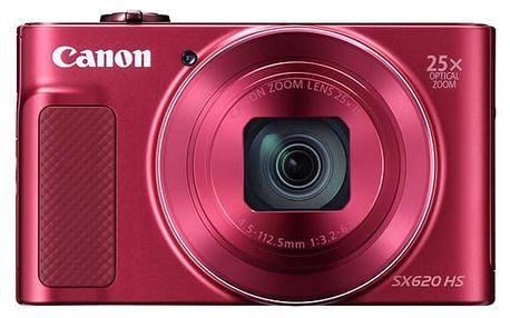 Digitální fotoaparát Canon SX620 HS (1073C002) červený Pouzdro na foto/video Canon DCC-1500 černé v hodnotě 438 Kč + DOPRAVA ZDARMA