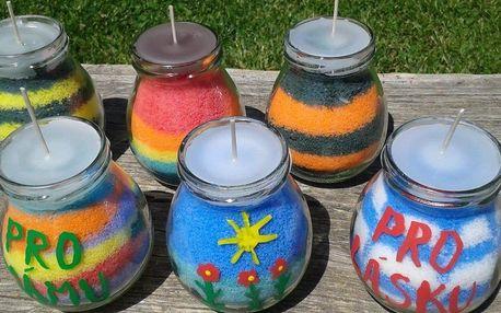 Výroba vonných svíček s olejem z citronové trávy