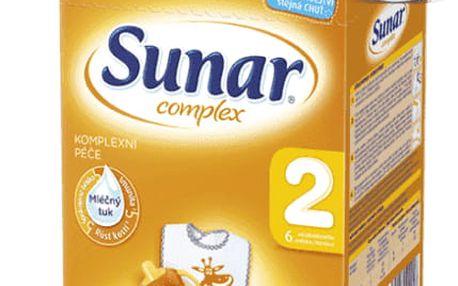 3x SUNAR Complex 2 (600 g) – kojenecké mléko