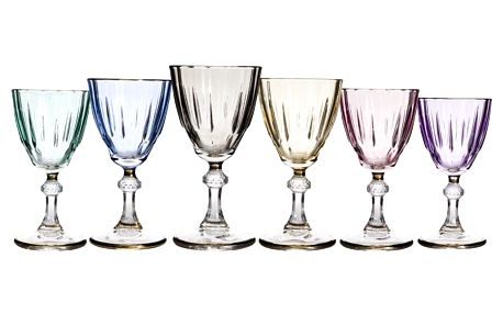 Sada 6 barevných sklenic Mezzo Diamond, 150 ml