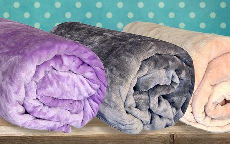 Barevné deky z mikroflanelu ve 13 barvách