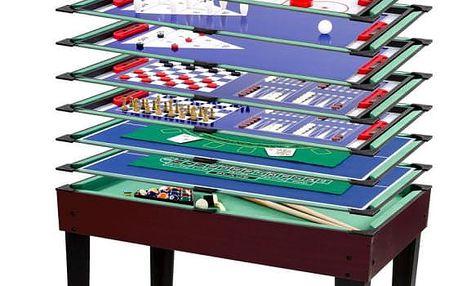 Tuin 40544 Multifunkční herní stůl 15 v 1 - tmavě hnědý