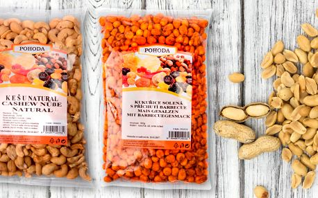 Mňam: Ořechy a kukuřice, po kterých se utlučete