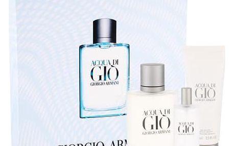 Giorgio Armani Acqua di Gio Pour Homme EDT dárková sada M - EDT 100 ml + EDT 15 ml + sprchový gel 75 ml