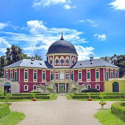 Romantické střední Čechy: horké i babí léto v zámku Veltrusy s projížďkou koňským povozem, prohlídkou zámku a polopenzí