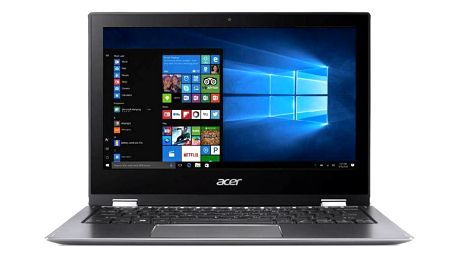 Acer Spin 1 (SP111-32N-C2RB) + stylus (NX.GRMEC.001) šedý
