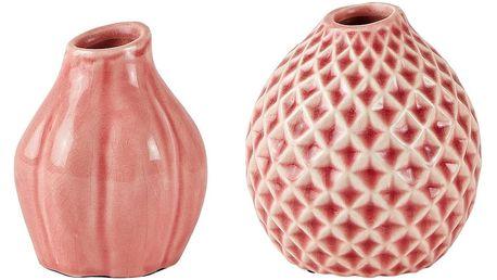 Sada 2 růžových keramických váz Villa Collection