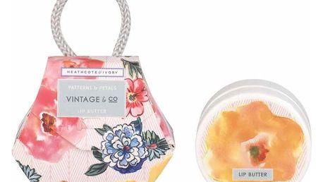 HEATHCOTE & IVORY Balzám na rty Patterns & Petals, růžová barva, multi barva, plast