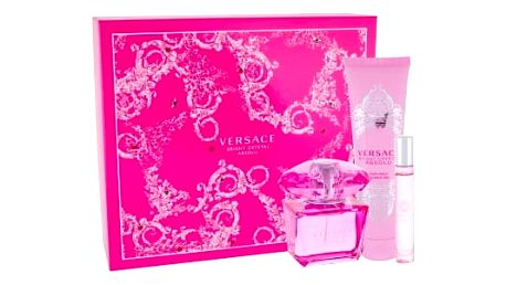 Versace Bright Crystal Absolu dárková kazeta pro ženy parfémovaná voda 90 ml + sprchový gel 150 ml + parfémovaná voda 10 ml
