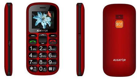 Mobilní telefon Aligator A321 Senior Dual SIM černý/červený (A321RB)