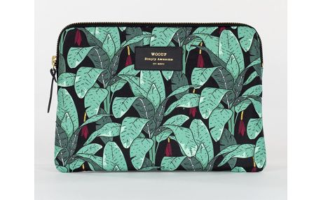 Woouf! Obal na iPad Jungle, zelená barva, textil