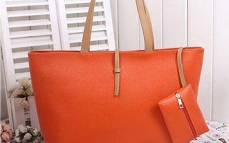Dámská kabelka v módních barvách - oranžová - SLEVA