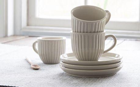 IB LAURSEN Šálek s podšálkem Mynte Latte 135 ml, béžová barva, keramika