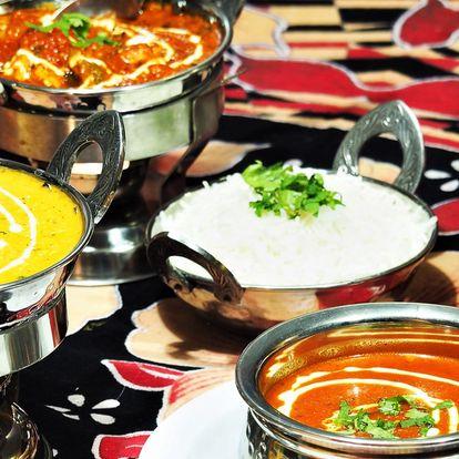 Voňavé indické menu: jehněčí, kuřecí i vege