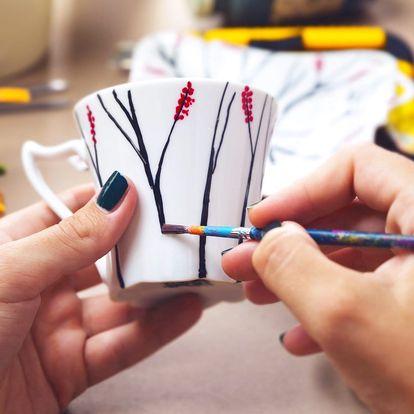 Workshop malování keramiky ve Vypáleném koťátku