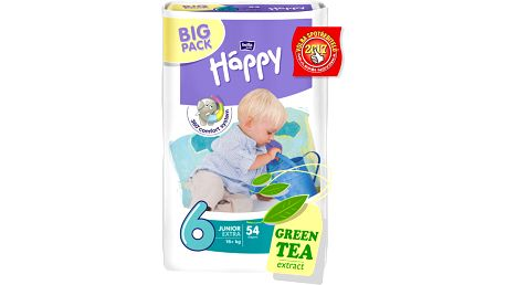 BELLA HAPPY Junior 6, 16+ kg, extra Big Pack, 54 ks - jednorázové pleny