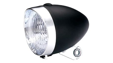 Svítilna diodová bateriová Retro černá