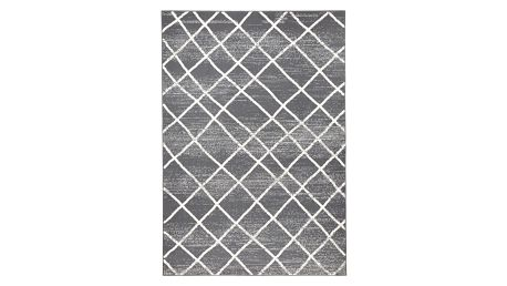 Tmavě šedý koberec Zala LivingRhombe, 70x140cm - doprava zdarma!