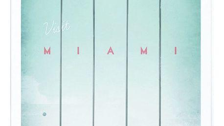 Plakát Travelposter Miami, A3