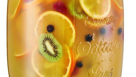 Skleněná nádoba s kohoutkem a víkem COUNTRY STYLE - dávkovač nápojů, 5 l, ZELLER