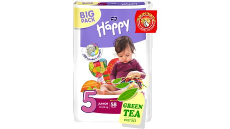 BELLA HAPPY Junior 5 (12-25kg) Big Pack 58 ks – jednorázové plenky
