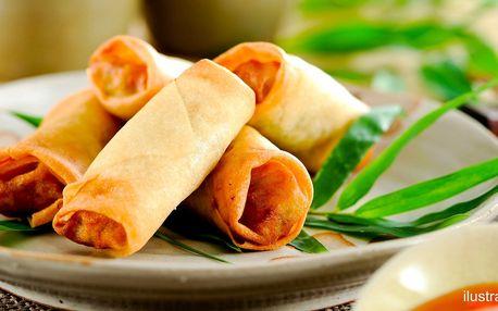 Vietnamské menu pro 2: polévka, závitky i salát