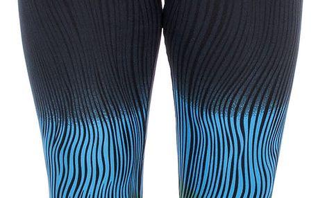 Eleuek Dámské vzorované sportovní 3/4 legíny barevné