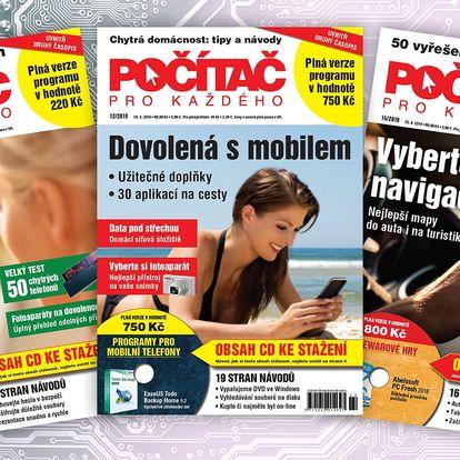 Roční předplatné časopisu Počítač pro každého