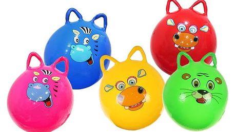 Veselý skákací nafukovací míč s obrázky zvířátek