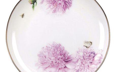 Dezertní talíř z kostního porcelánu Ashdene Pink Peonies, ⌀15cm