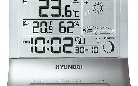 Meteorologická stanice Hyundai WS 2266 stříbrná