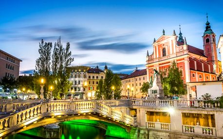 Slovinsko s koupáním, poznávací zájezd s ubytováním na 2 noci se snídaní