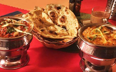 2chodové indické menu dle výběru pro dva