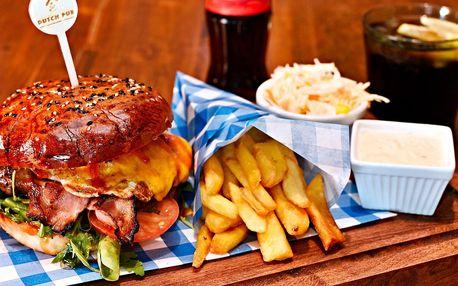Skvělý Jack Daniel's Burger v holandském pubu