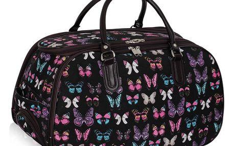 Dámská cestovní taška Butterfly 308A černá