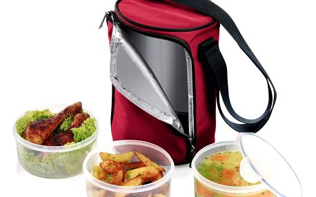 TESCOMA jídlonosič FRESHBOX se 3 dózami 0.8 l, 0,8 l